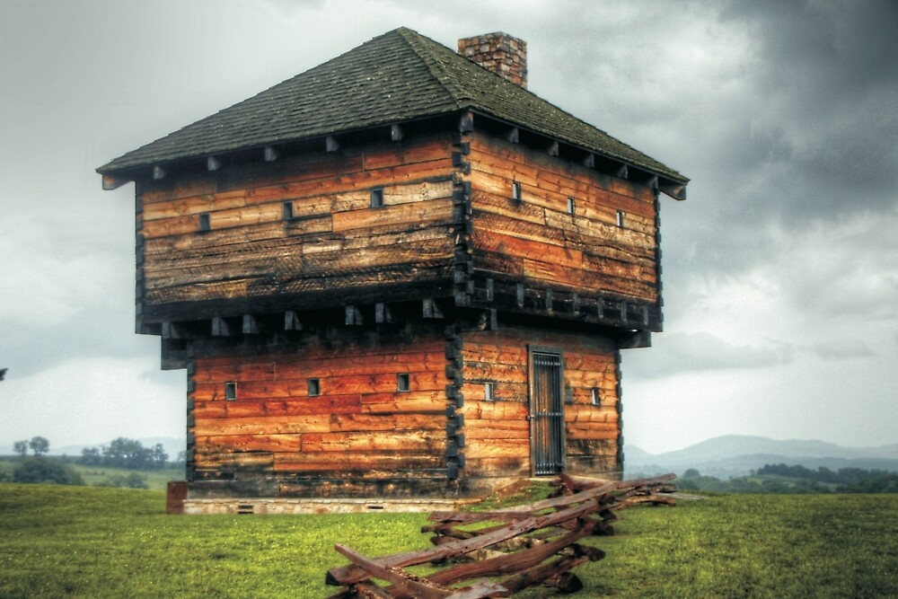 The Coon's Fort Blockhouse by Terence Russell