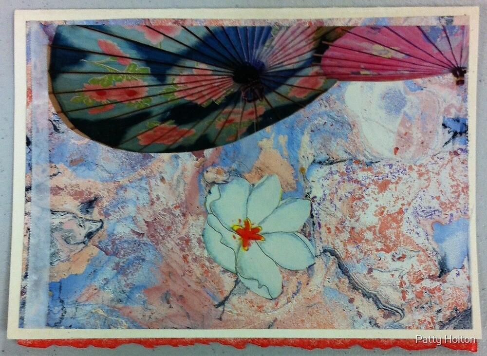 Asian umbrella design by Patty Holton