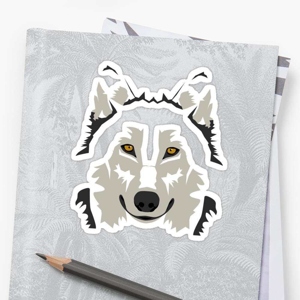 Simple Grey Wolf Vector Full Design by Lewis Moore