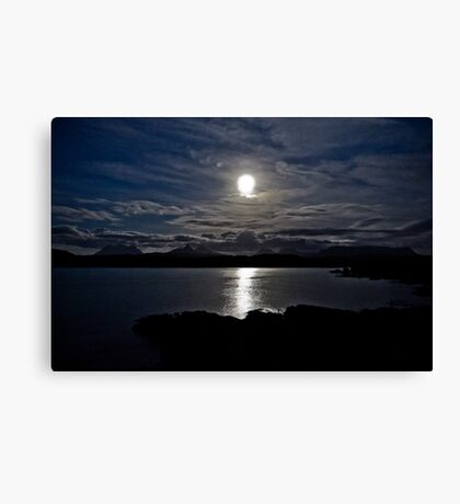 Assynt By Moonlight Canvas Print
