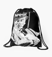 David Tennant as Hamlet in ink Drawstring Bag
