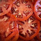 Sliced Homegrown Tomatoes by FrankieCat