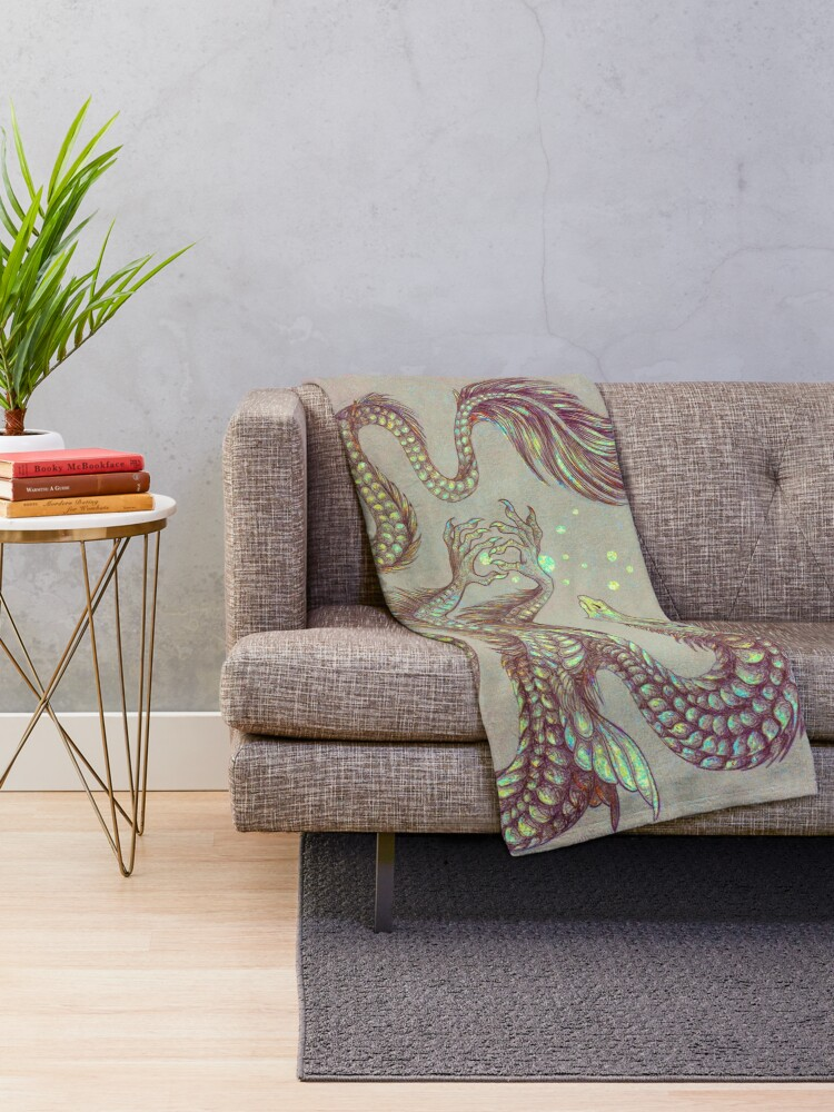 Alternate view of Moth Dragon Throw Blanket