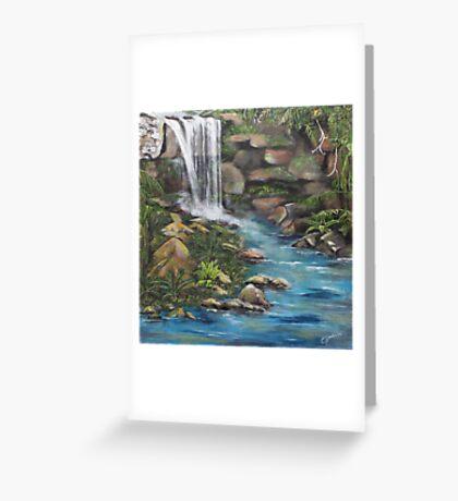 Curtis Falls, Mt Tamborine Greeting Card