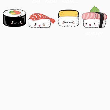 Sushi Buddies by nikkolen