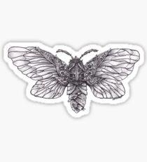 Steampunk Moth Sticker