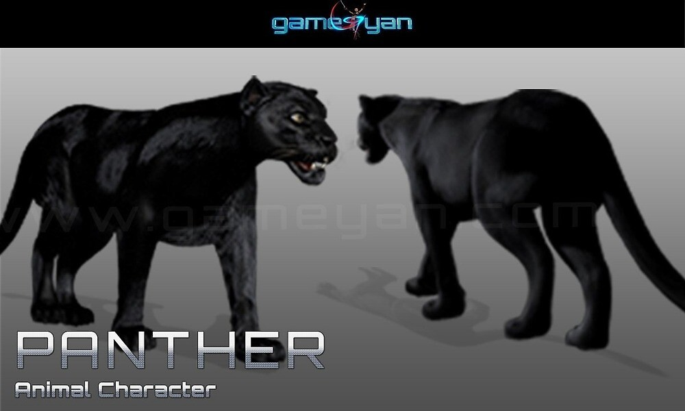 Black Panther Quadruped Character Modeling by GameYan