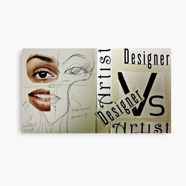 Artist Vs Design 01 Canvas Print