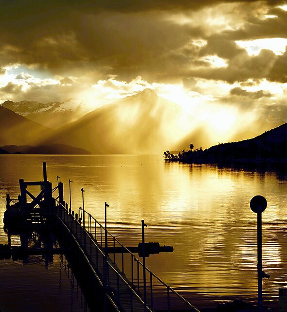 Lake Te Anau sunset. South Island, New Zealand. (3) by Ralph de Zilva