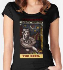 Camiseta entallada de cuello ancho El vidente: del Tarot del Zirkus Mägi