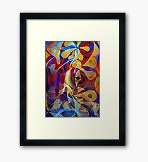Acrylic Abstract Multi-colour Scheme Framed Print