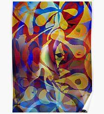 Acrylic Abstract Multi-colour Scheme Poster