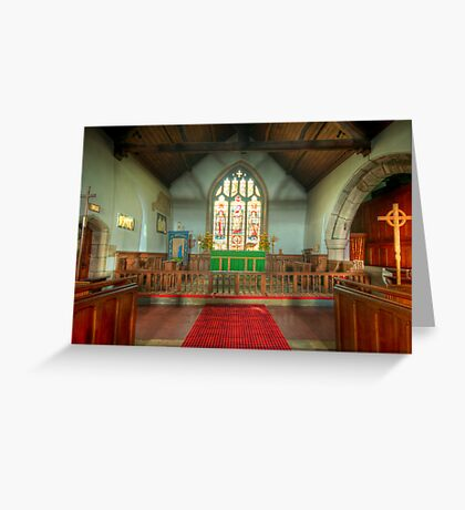 St Michael's Church Alter Greeting Card