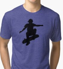 Skater Large - Black Tri-blend T-Shirt