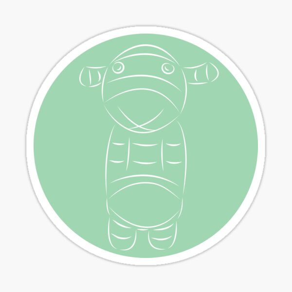 Sock Creature Silver Fern Sticker