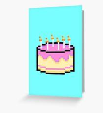 Pixel Cake Greeting Card