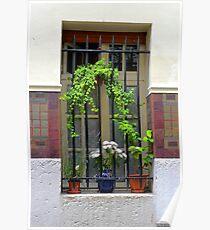 Parisian Window Poster