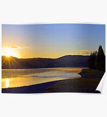 Good morning Flathead River Poster