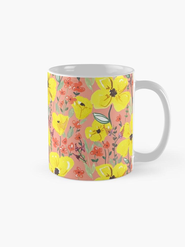 Alternative Ansicht von Gelbe Wiesen Blumen Tasse