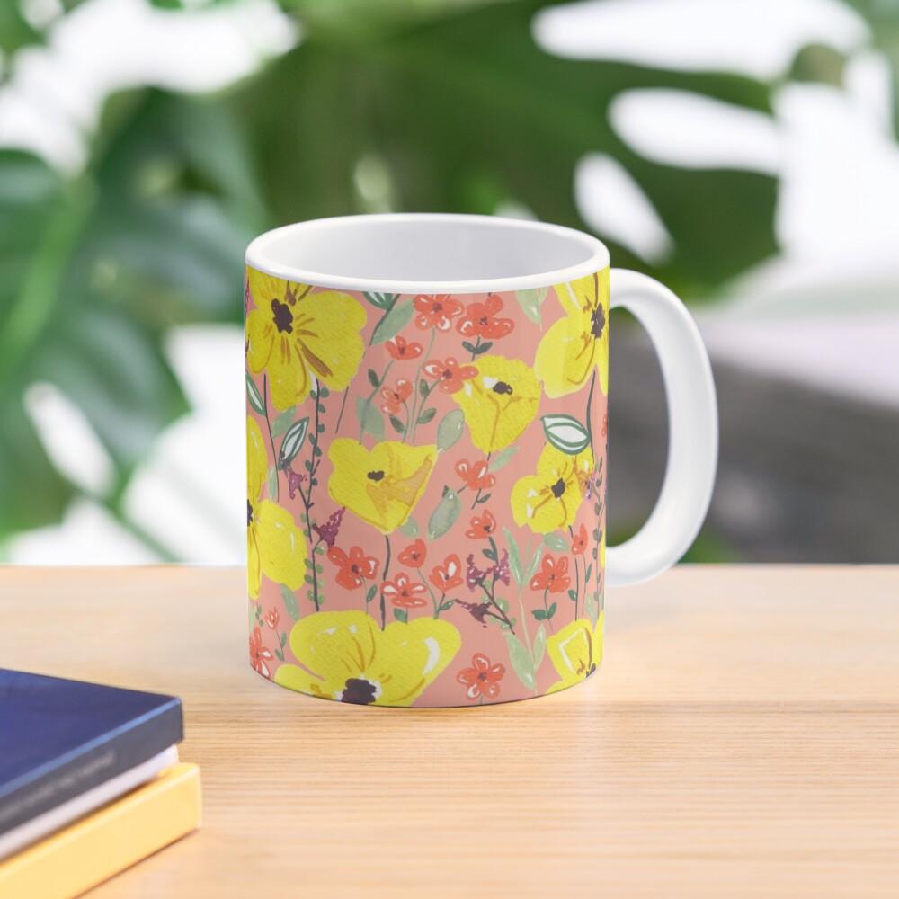Gelbe Wiesen Blumen Tasse