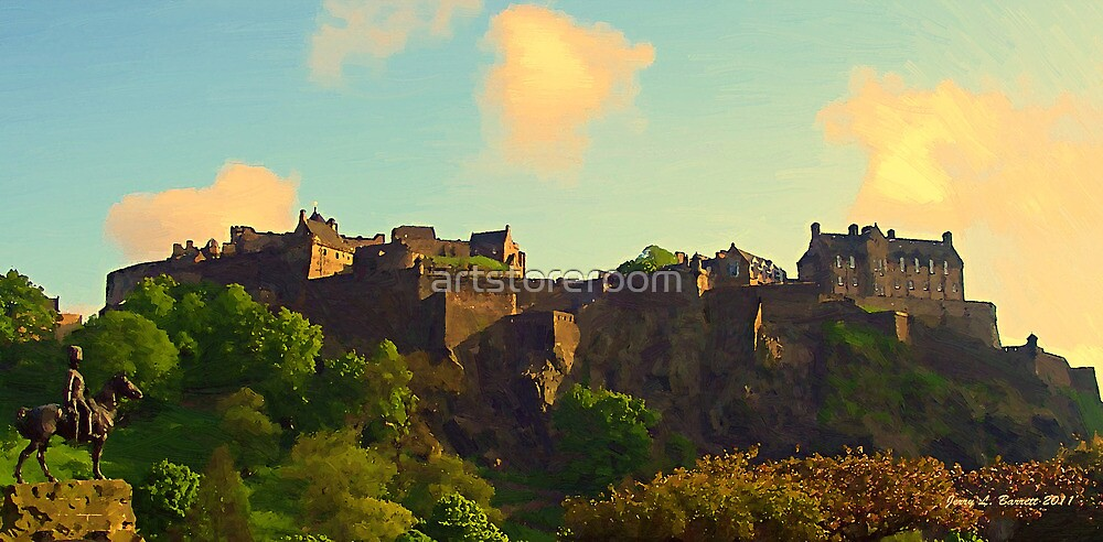 Edinburgh Castle by artstoreroom