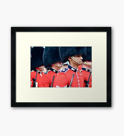 Changing of the Guard Ceremony on Parliament Hill Framed Print