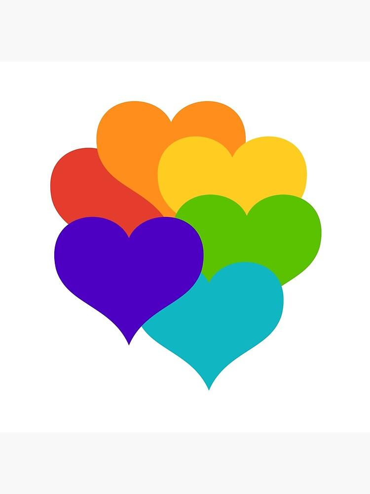 rainbow hearts by starchim01