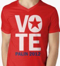 Vote Palin 2012 Men's V-Neck T-Shirt