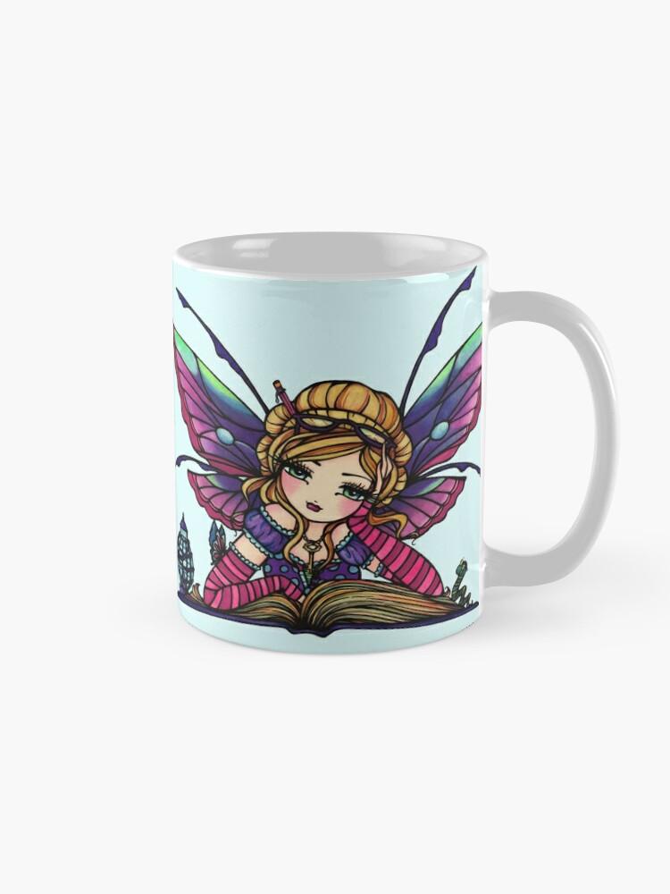 Alternate view of Bookworm Fairy by Hannah Lynn  Mug