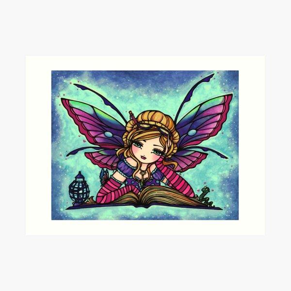 Bookworm Fairy by Hannah Lynn  Art Print
