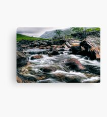 Rushing River, Glen Etive Canvas Print