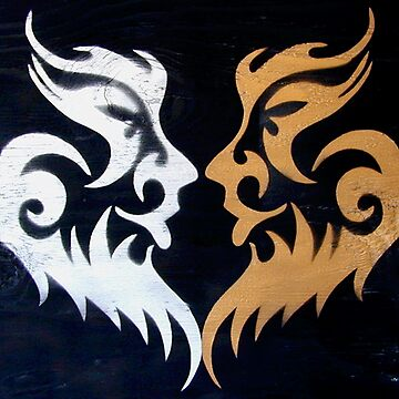 Tribal Burning Man Tattoo Stencil Graffiti Masks by rolandhill90