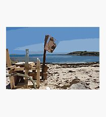 Beach bar, St Mary's Isles of Scilly Photographic Print