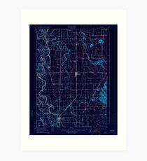 USGS Topo Map Oregon Halsey 282550 1912 62500 Inverted Art Print