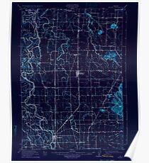 USGS Topo Map Oregon Halsey 282550 1912 62500 Inverted Poster