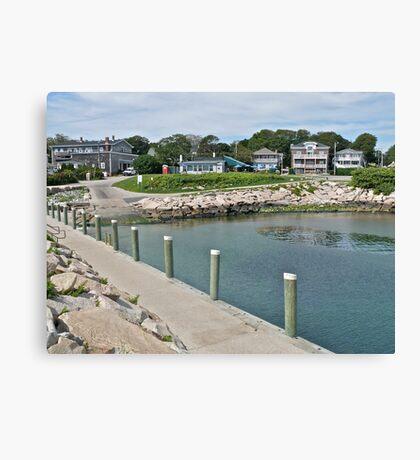 Boat Ramp at Monahan's Dock - Narragansett RI Canvas Print