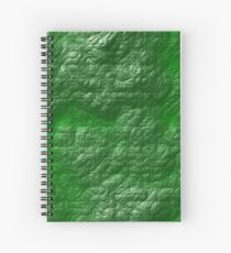 A Crumpled Green design for everything Spiral Notebook