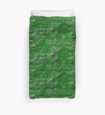 A Crumpled Green design for everything Duvet Cover