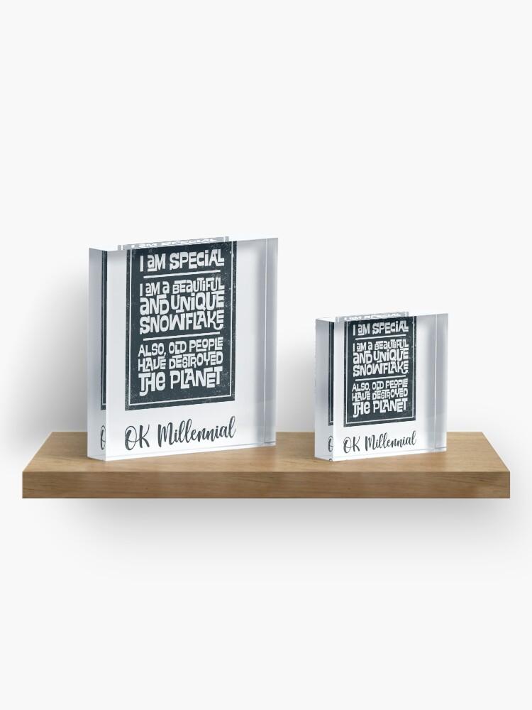 Alternate view of OK Millennial Acrylic Block