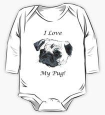 I Love My Pug! T-Shirt or Hoodie One Piece - Long Sleeve