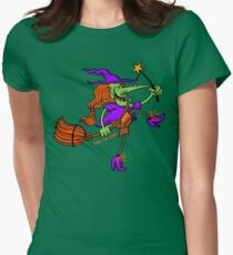 Crazy Witch Dancing with her Magic Wand T-Shirt
