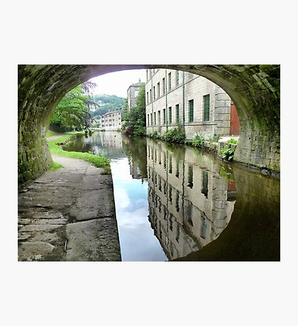 The Through view at Hebden Bridge. Photographic Print
