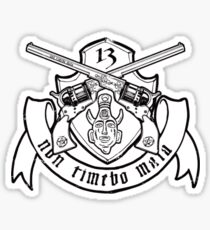 Non Timebo Mala (Black Crest) Sticker