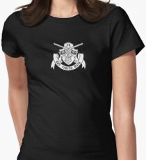 Non Timebo Mala (White Crest) Women's Fitted T-Shirt