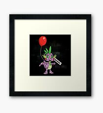 My Little Pony - MLP - FNAF - Spike Animatronic Framed Print