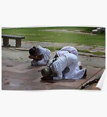 Prayers - Sarnath, India Poster