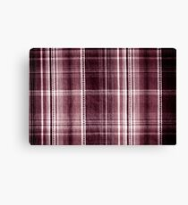 Red checkered cotton cloth  Canvas Print