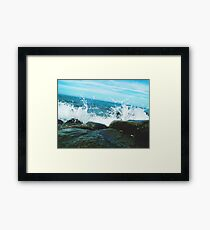 Breakin Waves Framed Print