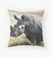 White Rhinoceros (Ceratotherium simum) Throw Pillow
