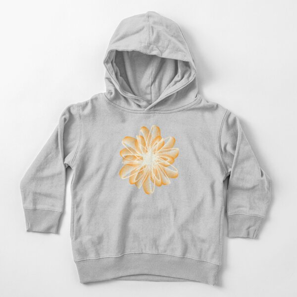 Abstract Flower in Orange and Black Toddler Pullover Hoodie